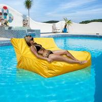 Anauto Bean Bag Cover, Bean Bag Sofa Cover,Swimming Pool Floating Bean Bag Cover Waterproof Reading Relaxing Soft Lounge Chair Sofa