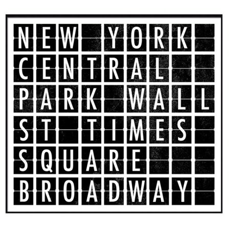 - PTM Destination Signs New York I Framed Textual Art