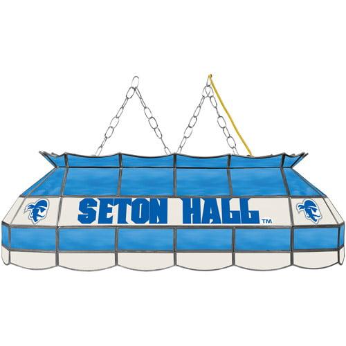 """NCAA Seton Hall University 40"""" Stained Glass Billiard Table Light Fixture"""