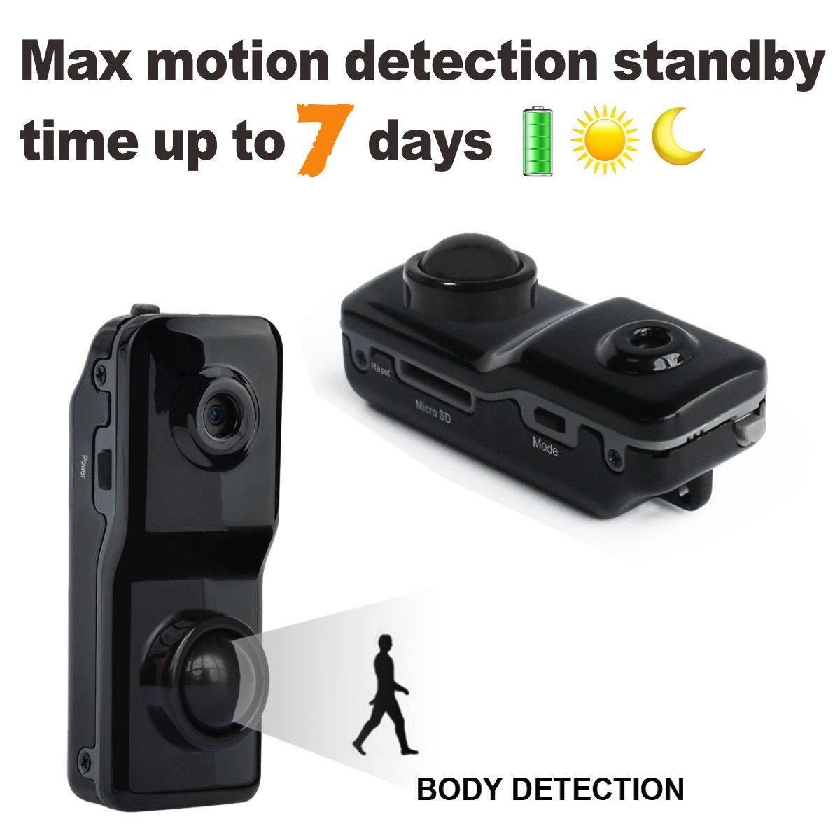Conbrov DV089 Mini Hidden Spy Nanny Cam Motion Activated ...