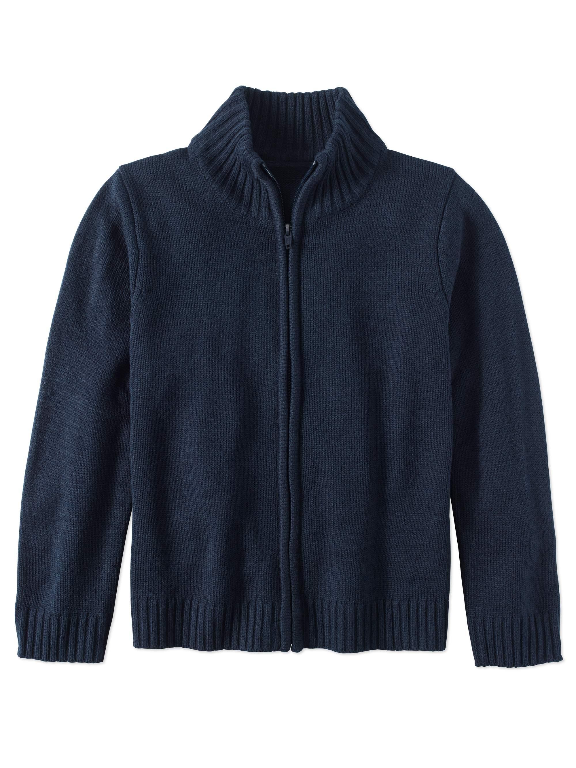 Boys School Uniform Zip Up Sweater