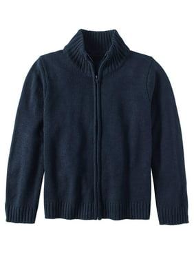 Wonder Nation Boys 4-18 School Uniform Zip Up Sweater