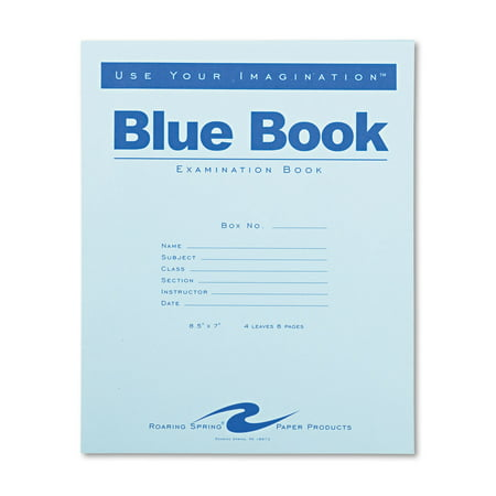 Exam Blue Book  Legal Rule  8 1 2 X 7  White  4 Sheets 8 Pages