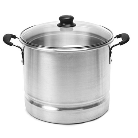 IMUSA MEXICANA-420 Tamale and Seafood Steamer with Glass Lid 20-Quart, (Tamale Steamer)