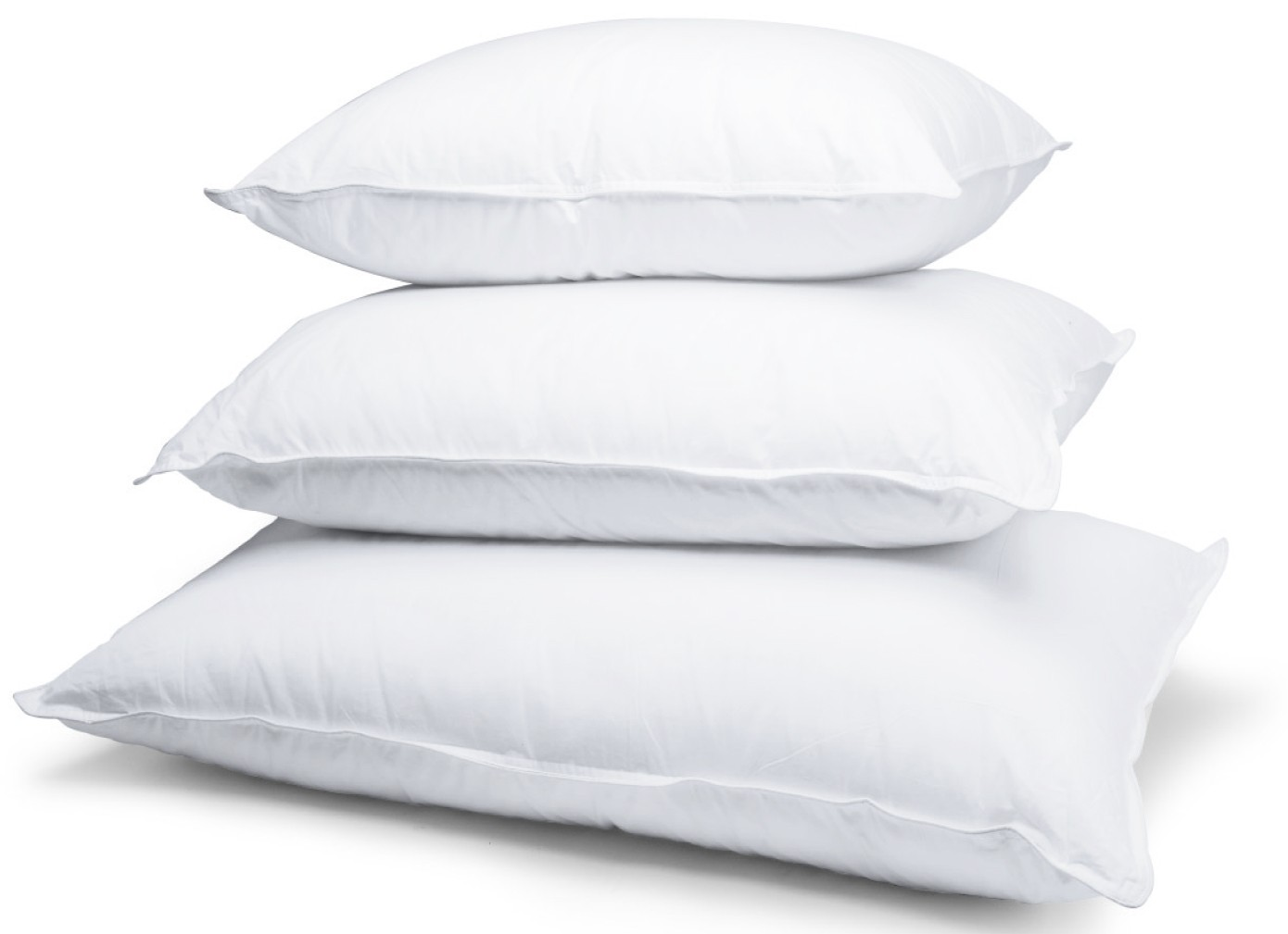 Set of 2 Caress Standard Pillows Polyester Bed Pillows by BlowOut Bedding