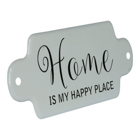 Home is My Happy Place Enameled Metal Wall Plaque 11 (Happy Halloween Plaque)