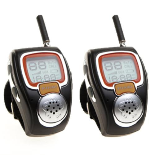 Digital Wrist Watch Walkie Talkie 2 Pack Two Way Radio Sp...