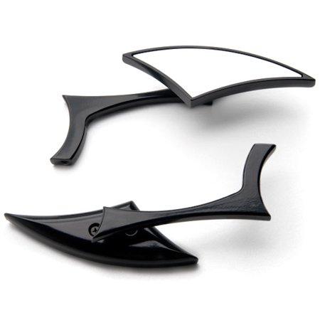 Yamaha Mirror Adapters - Krator Custom Rear View Mirrors Black Pair w/Adapters For Yamaha Raider S XV 1900 XV1900