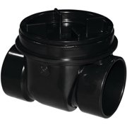Oatey 43905 Backwater Valve, ABS, Black