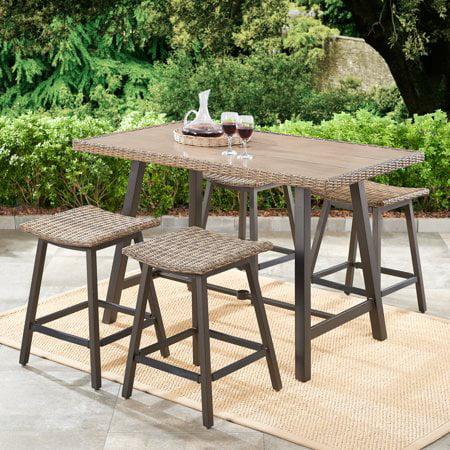 Better Homes & Gardens Westcliffe 5-Piece Patio Wicker Bar-Height Dining Set
