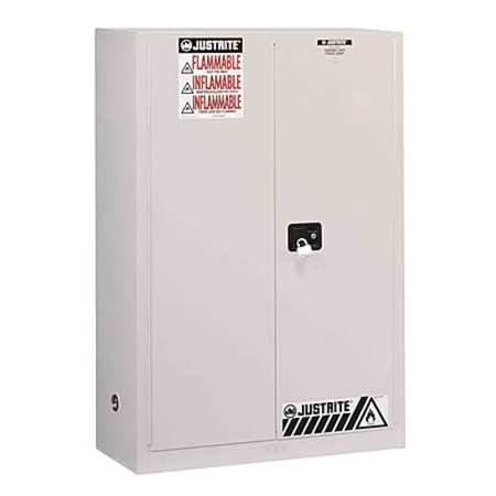 Justrite 60 Gal Safety Cabinet - JUSTRITE 896005 Flammable Safety Cabinet, 60 gal., White