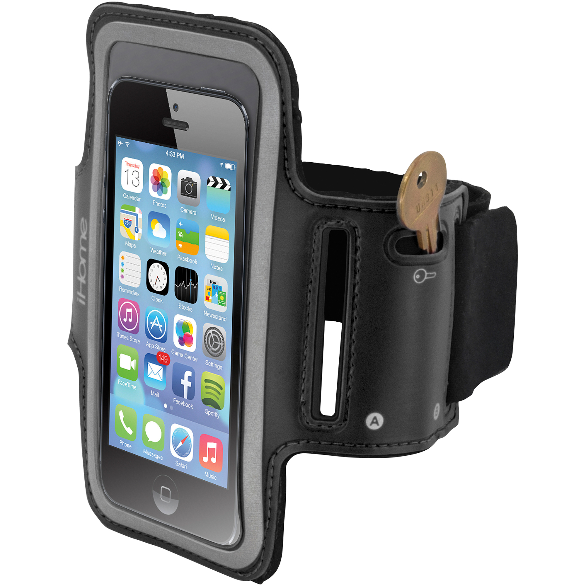 iHome IH-5P141B Sport Armband for iPhone 4/4S/5 and iPod touch,  Black