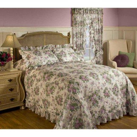 Plisse Floral Bedspread Queen Walmart Com