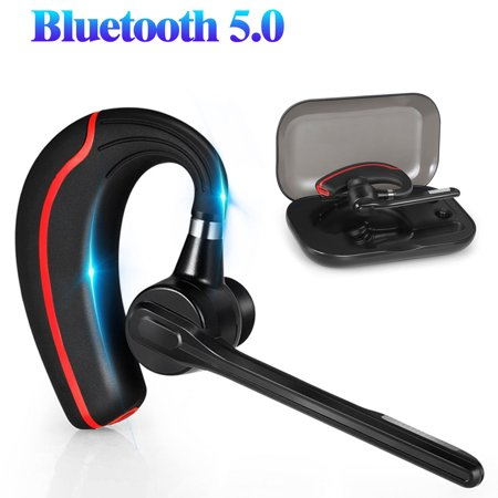 Bluetooth Headset, EEEKit Wireless Earpiece Bluetooth V5.0 Crystal Clear Sound Headphones with Mic for Business/Office/Driving, Compatible with iPhone, Samsung, Android and