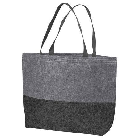 Flower Felt Bag (Port Authority Colorblock Large Felt Tote)