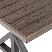 Better Homes & Gardens Axel Farmhouse Patio Dining Table with Trestle Base