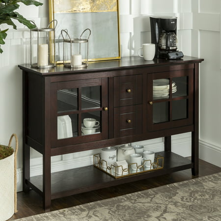 "Walker Edison 52"" Wood Console Table Buffet TV Stand for TV's up to 55"" - Espresso"