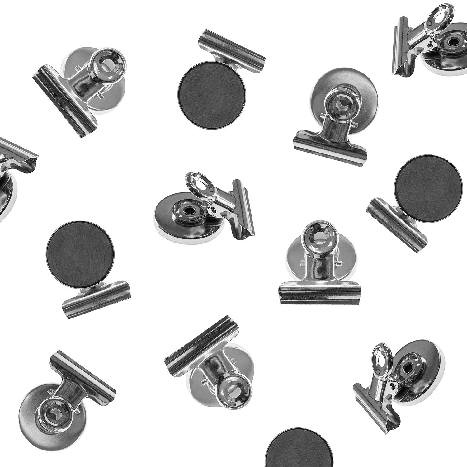 Heavy Duty Mini Silver Refrigerator Magnet Hook Clips for Photo Displays (8 Pack) by Super Z Outlet