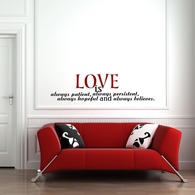 Everything Vinyl Decor Love is... Inspirational Vinyl Wall Art
