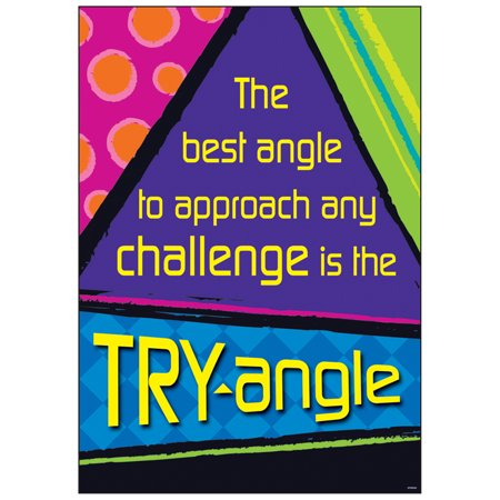 THE BEST ANGLE TO APPROACH ANY CHALLENGE IS THE TRY ANGLE