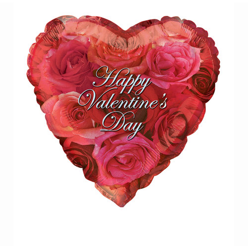 "18"" Foil I Love You Roses Valentine Balloon"