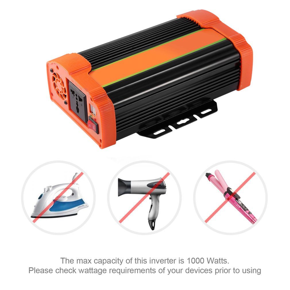 P1000C 1000W High Power Car Power Inverter DC22V to AC110