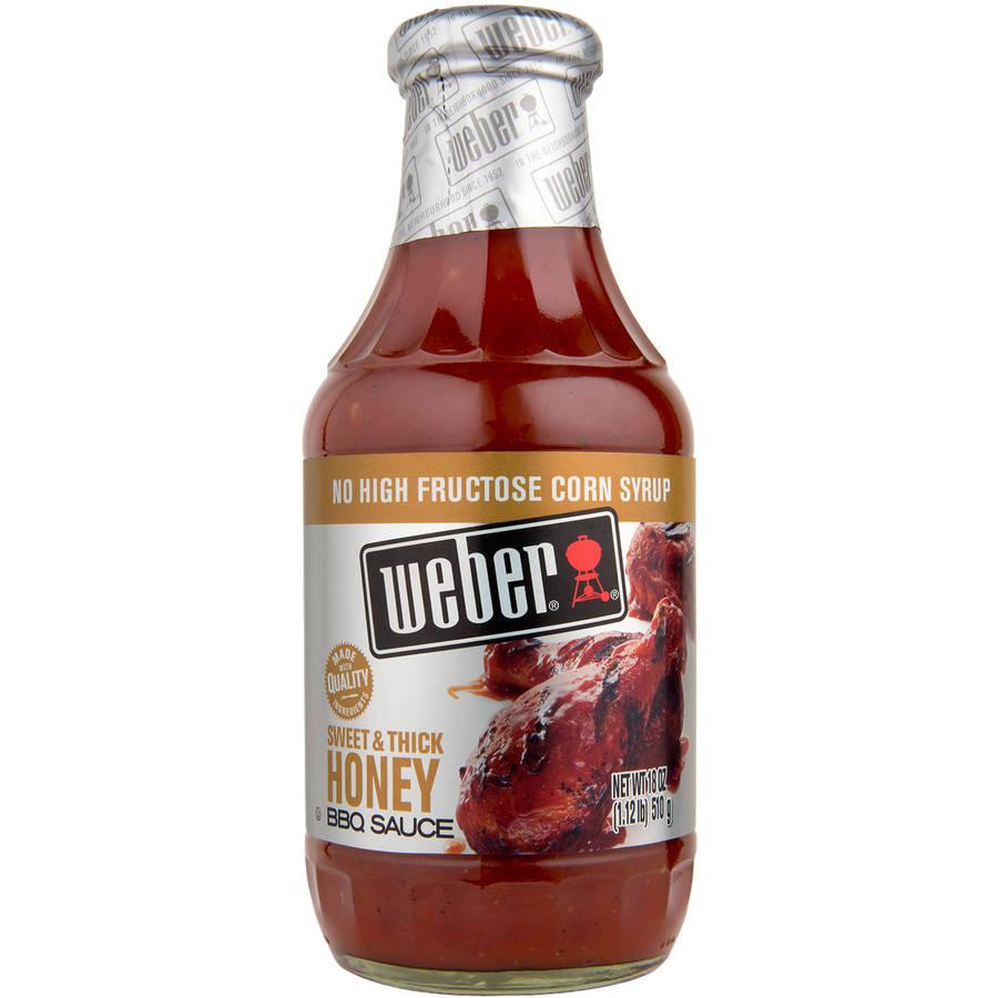 Weber Buzz'N Honey BBQ Sauce, 18 oz