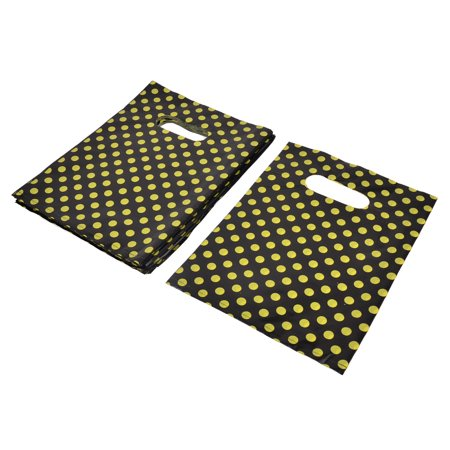 Unique Bargains Shop Store Dots Handbag Tote Carrier Holder Gift Shopping Bag 25 x 18.5cm 90pcs