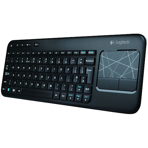 Logitech Wireless Touch Keyboard K400 with Built-In Multi-Touch Touchpad, Black by Logitech