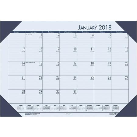 - House of Doolittle Ecotones Compact Calendar Desk Pads, Blue