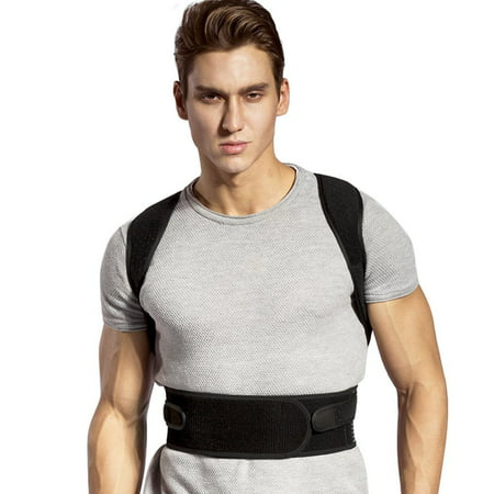 Mens Neck Brace - Posture Corrector Brace and Clavicle Support Straightener for Upper Back Shoulder Forward Head Neck Aid, Improve and Fix Poor Posture for Women Men
