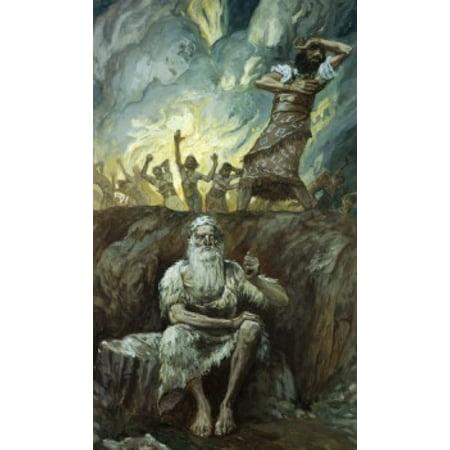 Elijah Bringeth Fire from Heaven  James J Tissot (1836-1902French)  Jewish Museum New York Canvas Art - James Tissot (18 x