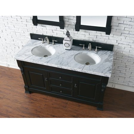 Darby Home Co Bedrock 60'' Double Antique Black Bathroom Vanity Set - Darby Home Co Bedrock 60'' Double Antique Black Bathroom Vanity Set