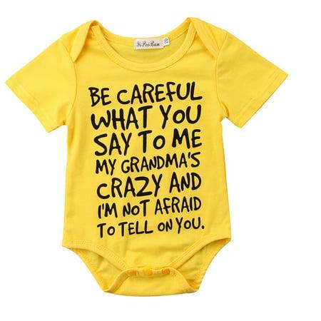 651eb91a3bc64 0-24 Months Newborn Infant Baby Kids Girl Boy Letter Print Romper Jumpsuit  Bodysuit Outfits Clothes - Walmart.com