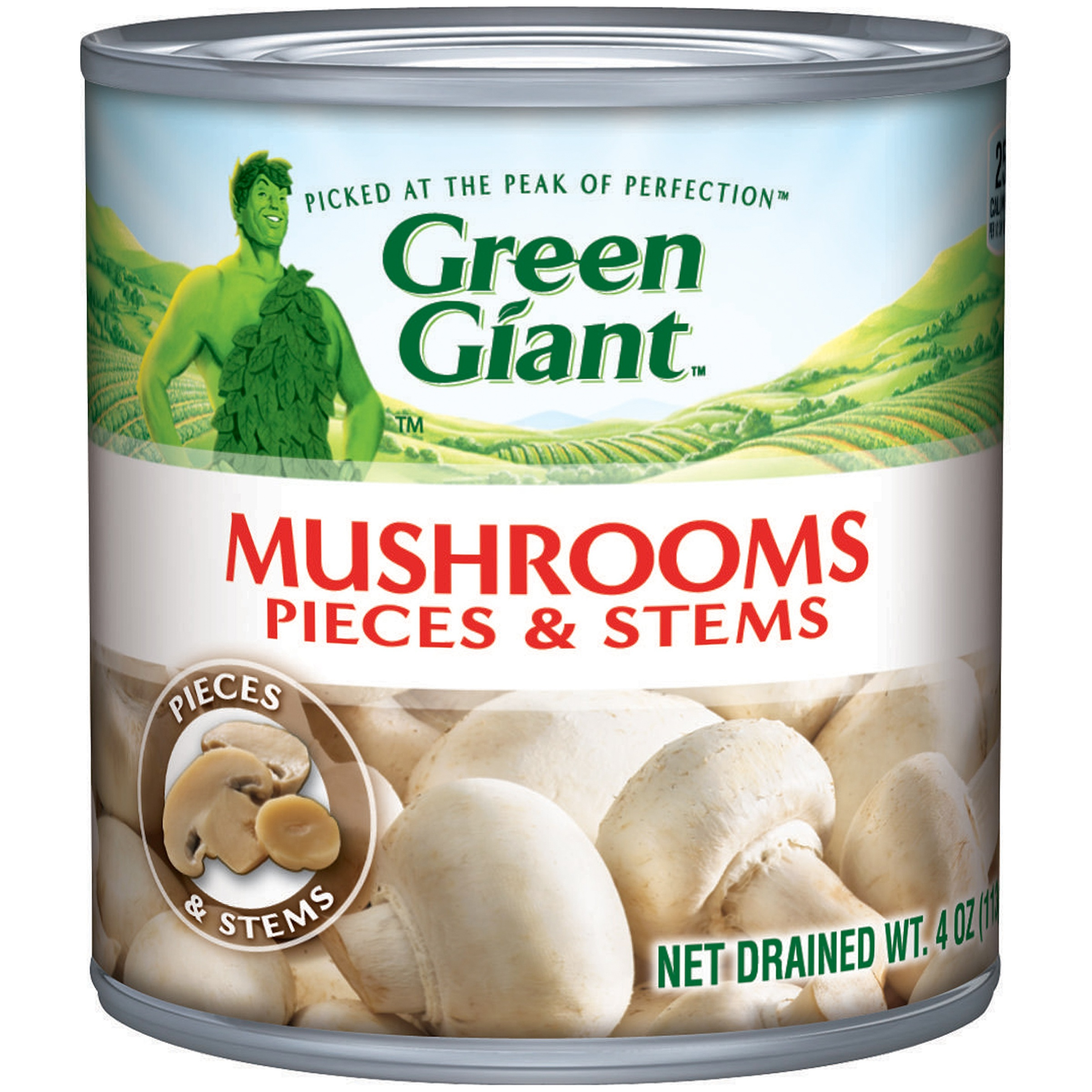 Green Giant Mushroom Pieces & Stems 4 oz. Can by GENERAL MILLS SALES, INC.