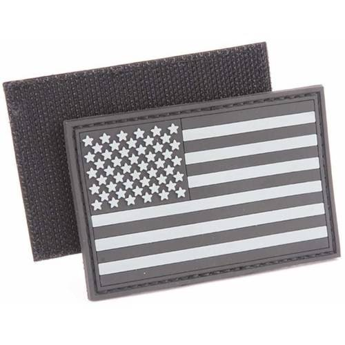 "USA Flag PVC Patch, 2"" x 3"""