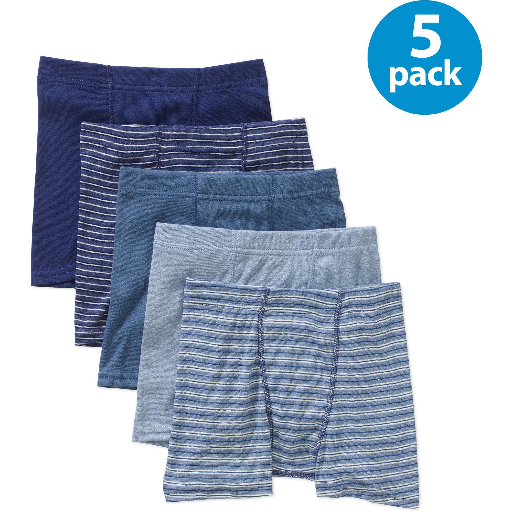 04cd882e2a35 Hanes - Boys 100% Cotton Exposed Waistband Briefs, 6 Pack - Walmart.com