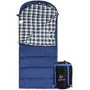 REDCAMP 40 Degrees Cotton Flannel Sleeping Bag for Adults,