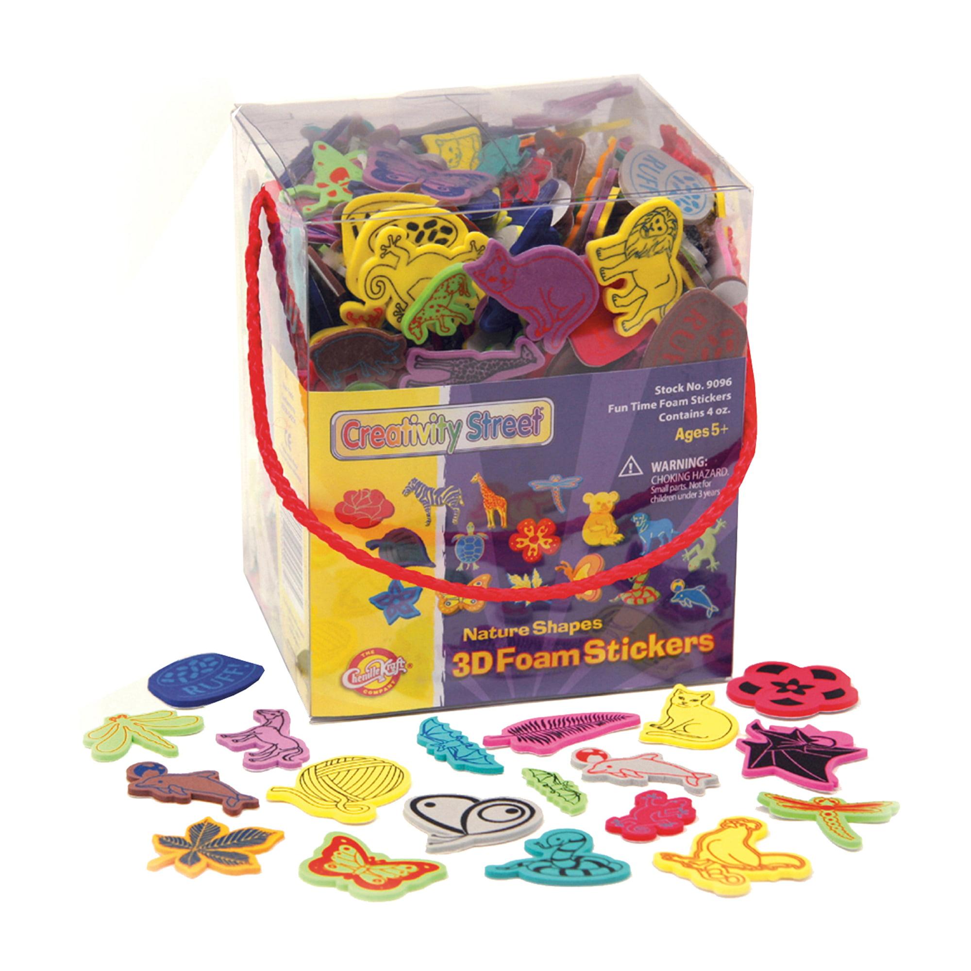 Creativity Street® Wonderfoam® Peel & Stick Nature Theme 3D Foam Sticker Box, 4 oz