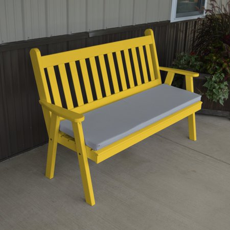 A & L Furniture Yellow Pine Traditional English Garden Bench