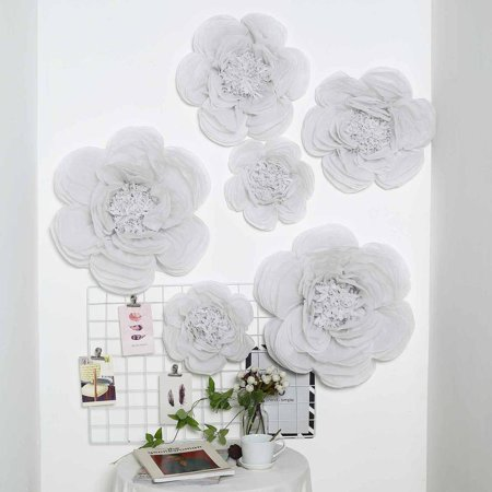 Flowers Chiyogami Paper (Efavormart 6 Pack Assorted Size Giant Paper Peony Flowers Decor for Centerpieces Arrangement Party  - 12