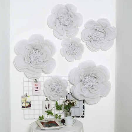 Efavormart 6 Pack Assorted Size Giant Paper Peony Flowers Decor for Centerpieces Arrangement Party  - 12