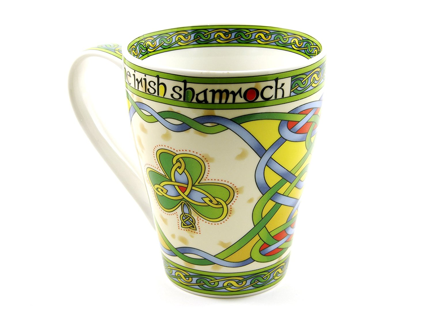 Irish Coffee Cup Shamrock Mug Cream Color Fine Bone China by