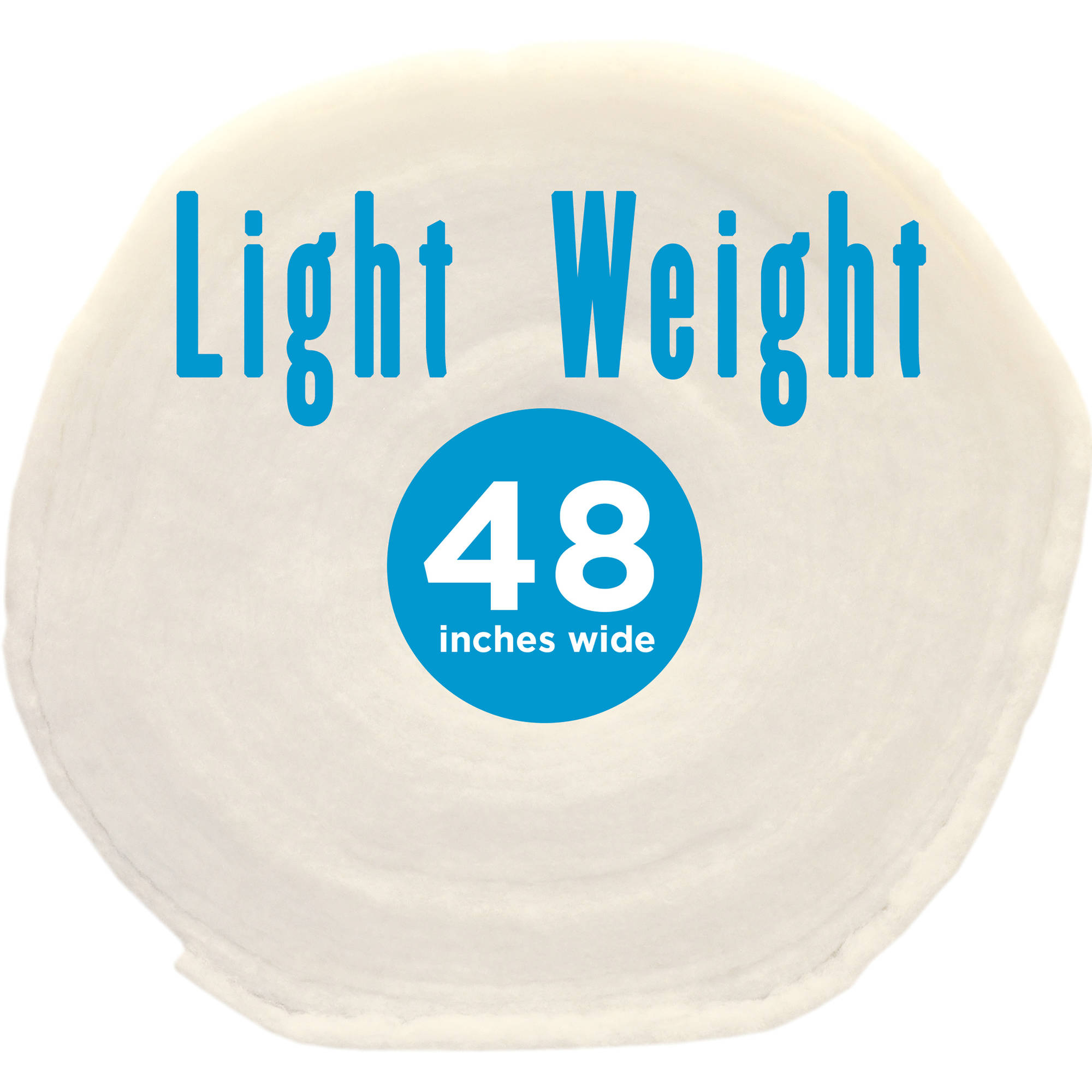 """Poly-Fil Light-Weight 100% Polyester Quilt Batting, 48"""" x 45 Yard Roll"""