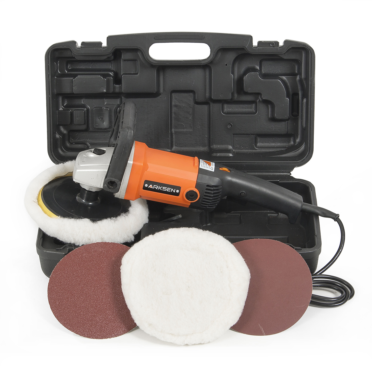 "Arksen 7"" Electric Car Polisher, Variable Speed, Buffer, Sander, Orange by ARKSEN"