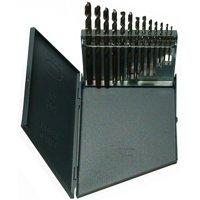 "13 Cobalt Drill Bit Set Metal Case, Sizes 1/16"" - 1/4"" x 64ths"