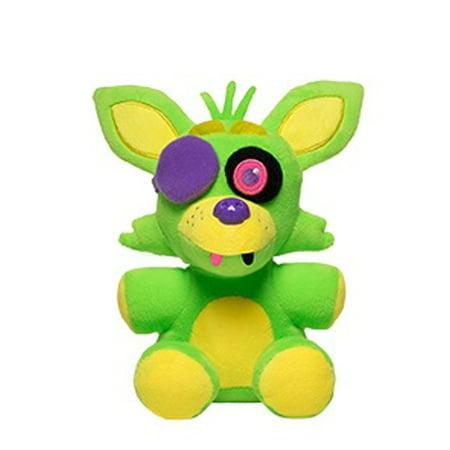 Funko Plush: Five Nights at Freddy's - Neon Foxy Plush (styles may vary) - Green Plush