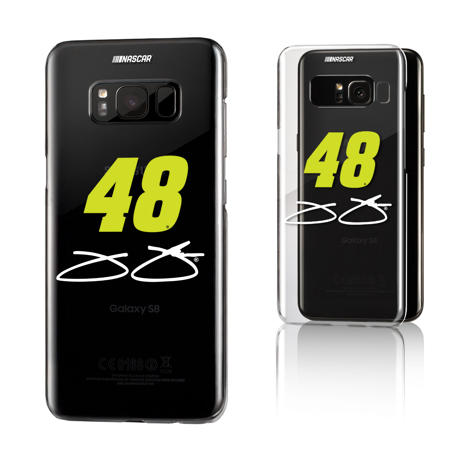 Jimmie Johnson Insignia Clear Case for Galaxy S8