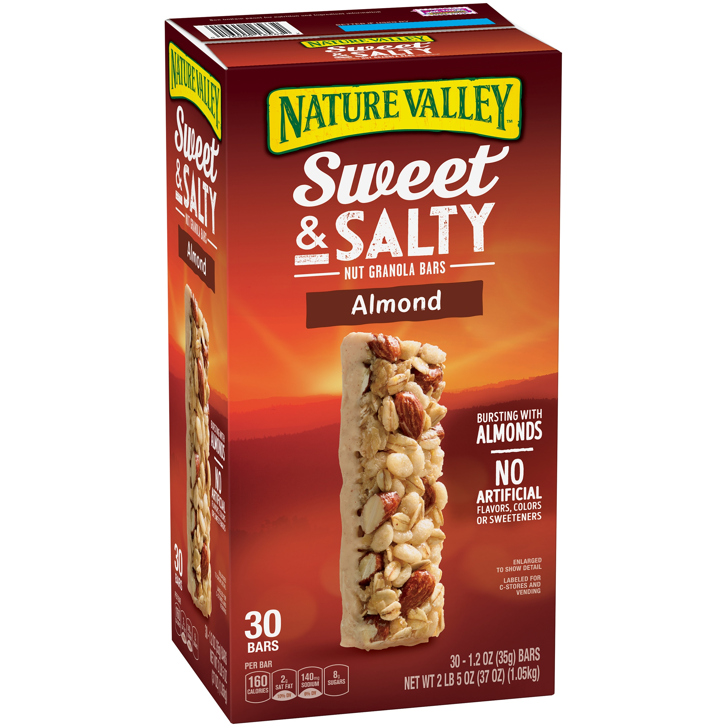 Nature Valley Almond Sweet and Salty Nut Granola Bars 1.2 oz. 30 Pack
