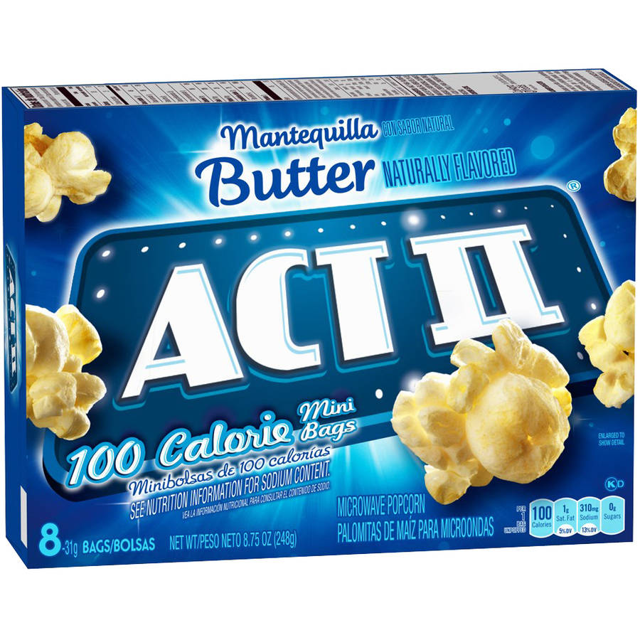 Image of Act II 100 Calorie Mini Butter Popcorn, 8.8 oz, (Pack of 3)